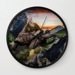 Turtle World Wall Clock
