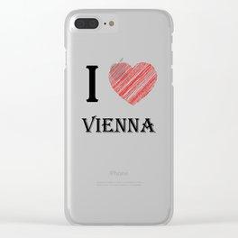 Vienna Classic. I love my favorite city. Clear iPhone Case