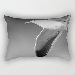 Flying seagull in black and white Rectangular Pillow