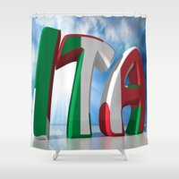 italy Shower Curtains featuring ITA - Italy by Carlo Toffolo