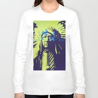 native american Long Sleeve T-shirts featuring Native American  by Ty McKie Creations