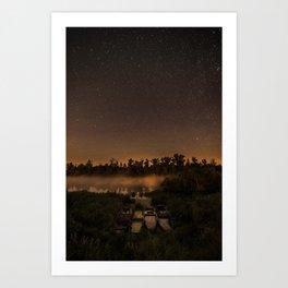 Perseid night Art Print