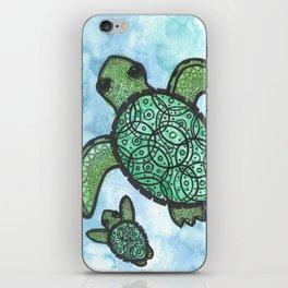 A peaceful swim iPhone Skin