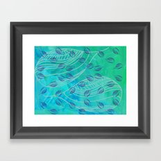 Sweet Summer Swim Framed Art Print