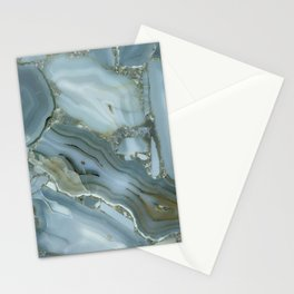 Slate Blue Lace Agate Stationery Cards