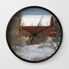 Country Winter Wall Clock