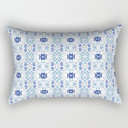 Asian Blue - inspired by Japanese textiles Rectangular Pillow