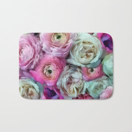 Romantic flowers I Bath Mat