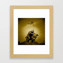 Iwo Jima Memorial Framed Art Print