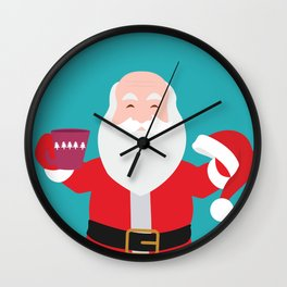 Have a A delightful cup of Christmas with Santa Claus Wall Clock