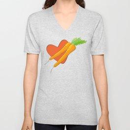 Carrot Heart Unisex V-Neck