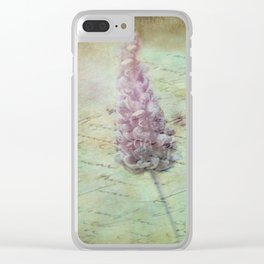Lady Lavender Clear iPhone Case