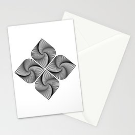 Flower Optical Illusion Stationery Cards