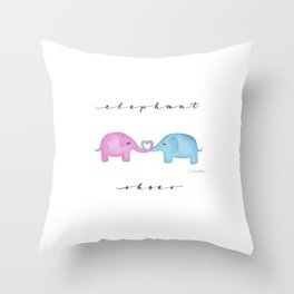 Elephant Shoes Throw Pillow