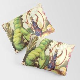Alice & The Hookah Smoking Caterpillar - Alice In Wonderland Pillow Sham
