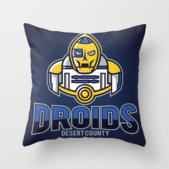 Desert County Droids - Navy Throw Pillow