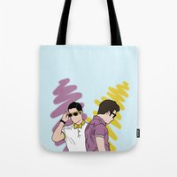 klaine Tote Bags featuring Klaine by wellsi