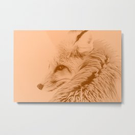 red fox digital acryl painting acrcb Metal Print