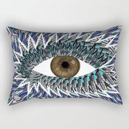 Origami Chakra Eye - Chocolate Brown Black Rectangular Pillow
