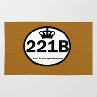 221b Area & Throw Rugs featuring 221B by Lugonbe
