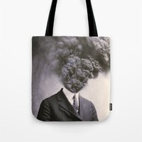 power Tote Bags featuring Outburst by J U M P S I C K ▼▲