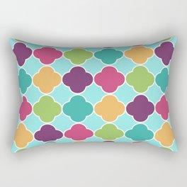 Quatrefoil Fun Pattern Rectangular Pillow