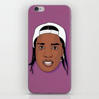 asap rocky iPhone & iPod Skins featuring ASAP Rocky by TheMohamz