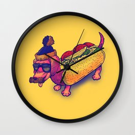 Chicago Dog Wall Clock