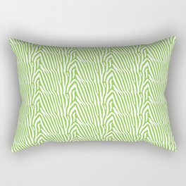 LIME ZEBRA STRIPE Rectangular Pillow