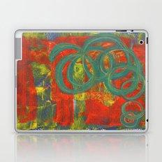 Green spirals Laptop & iPad Skin
