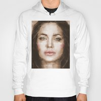 angelina jolie Hoodies featuring Jolie by Dnzsea