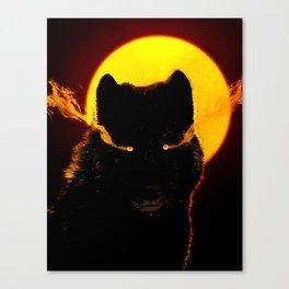 Malevolent Wolf Canvas Print
