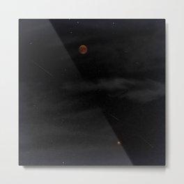 Blood Moon - Total Lunar Eclipse, Grand opposition of Mars, Southern Delta Aquarid meteor shower / c Metal Print