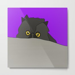 Bacco the Cat Metal Print