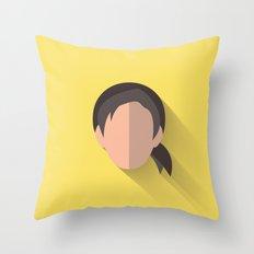 Leia Flat Design Episode VII Throw Pillow