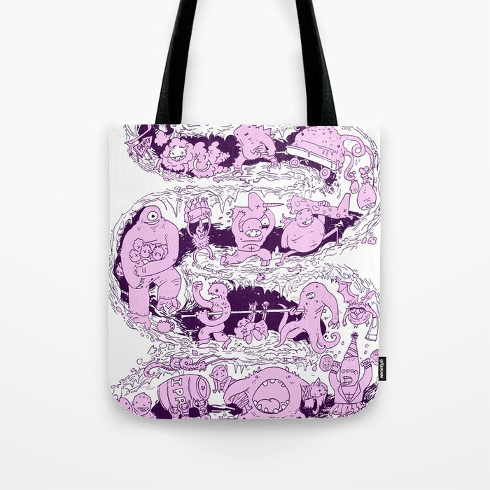 headin' to the monster party Tote Bag
