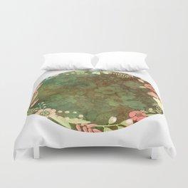 Vintage Green floral Duvet Cover