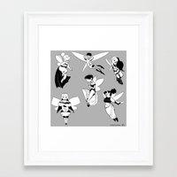 fairies Framed Art Prints featuring Fairies by Lisa Lynne Lumos