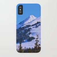 skiing iPhone & iPod Cases featuring Back-Country Skiing  - IV by Alaskan Momma Bear