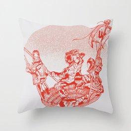 La meduse Throw Pillow