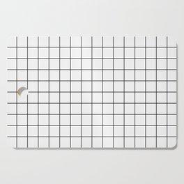 Black and White Thin Grid Graph Cutting Board