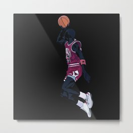 Air Jordan Basketball Payer Art Print and Poster Metal Print