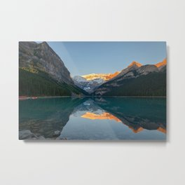LAKE LOUISE AUTUMN SUNRISE - BANFF NATIONAL PARK CANADA - LANDSCAPE NATURE PHOTOGRAPHY Metal Print