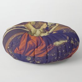 "Leonardo da Vinci ""Annunciation"" The Archangel Gabriel Floor Pillow"