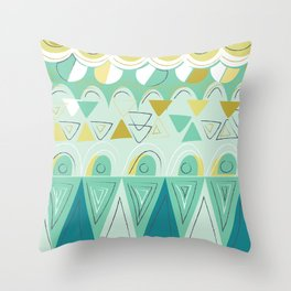 aqua pop Throw Pillow