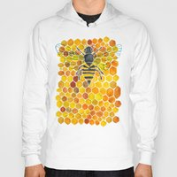 honeycomb Hoodies featuring Bee & Honeycomb by Cat Coquillette