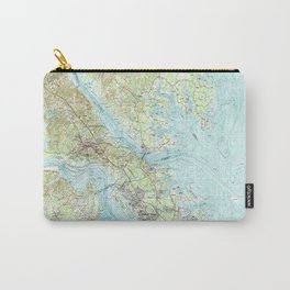 Tidewater Virginia Map (1984) Carry-All Pouch