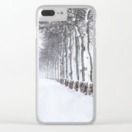 Snow way Clear iPhone Case