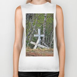 Crossed Crosses Biker Tank