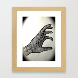 Reaching Hand Framed Art Print